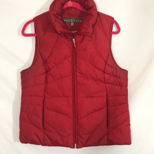 down Puffer vest red large